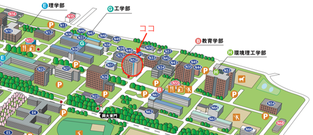 津島キャンパス地図